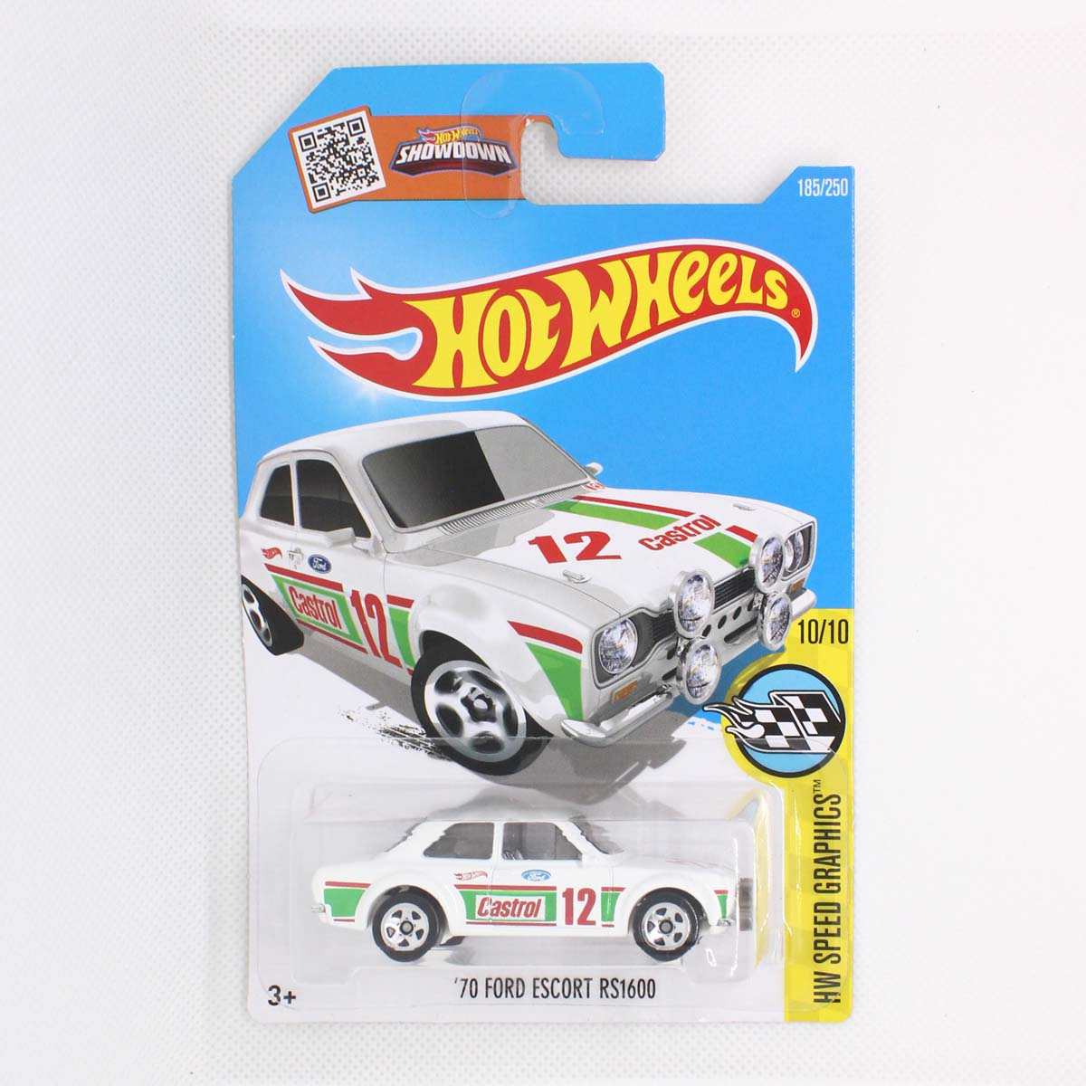 Hot Wheels 2016 HW speed graphics 70 Ford Escort RS1600 White  Castrol