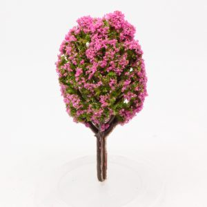 Model tree (mauve/lilac flowering) - 6cm Image 1