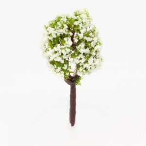 Model tree (white flowering) - 4cm Image 1