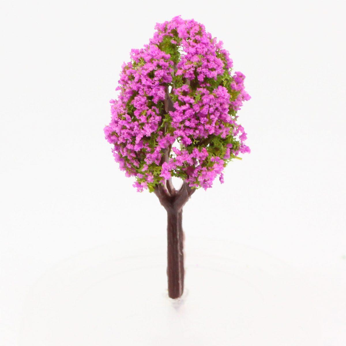 Model tree (mauve/lilac flowering) - 4cm Image 1