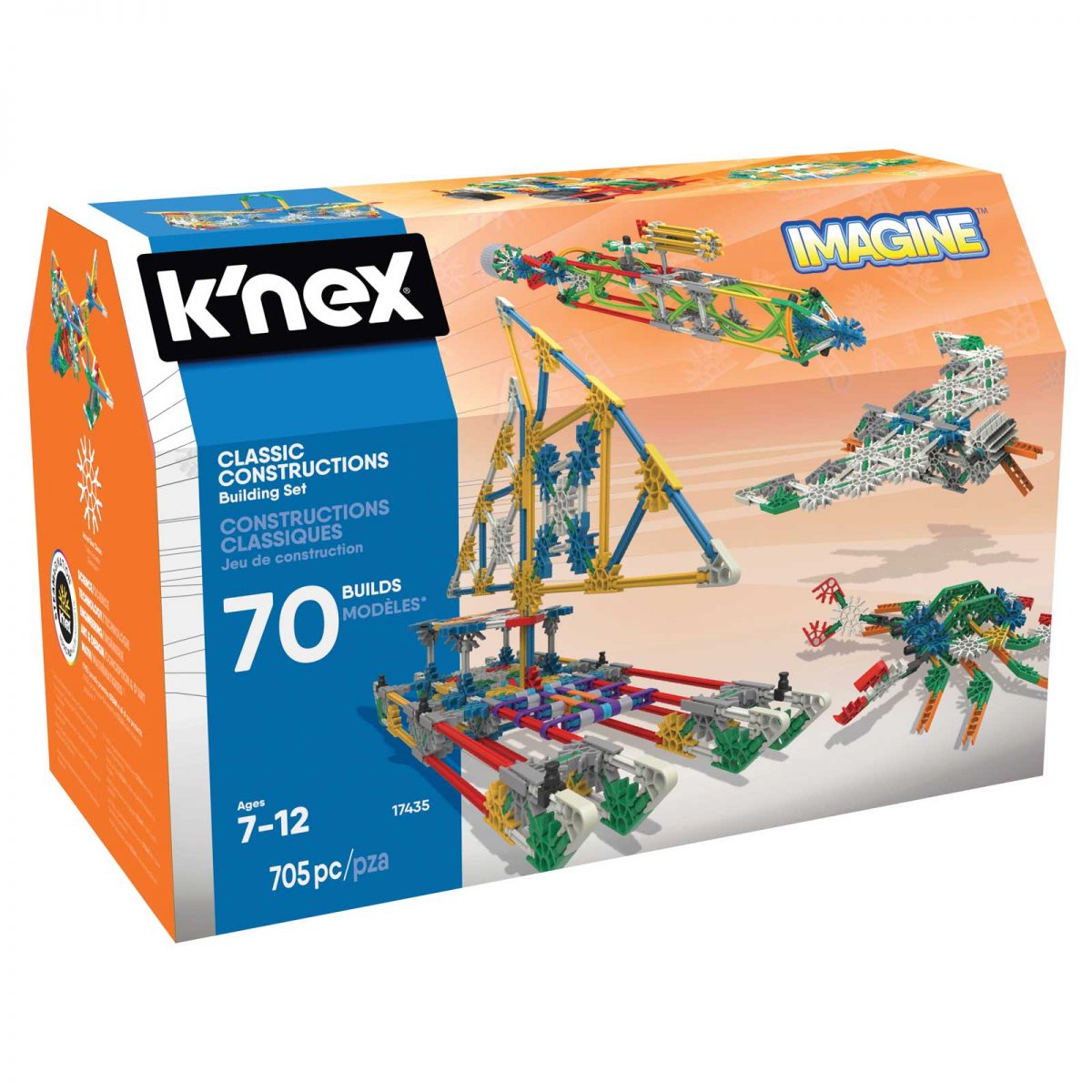 K'Nex Classic Constructions 70 Model Building Set (4M-17435)